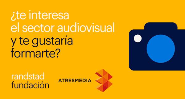 Cartel promocional de las becas «MasMedia» / © Fundación Randstad y Grupo Atresmedia