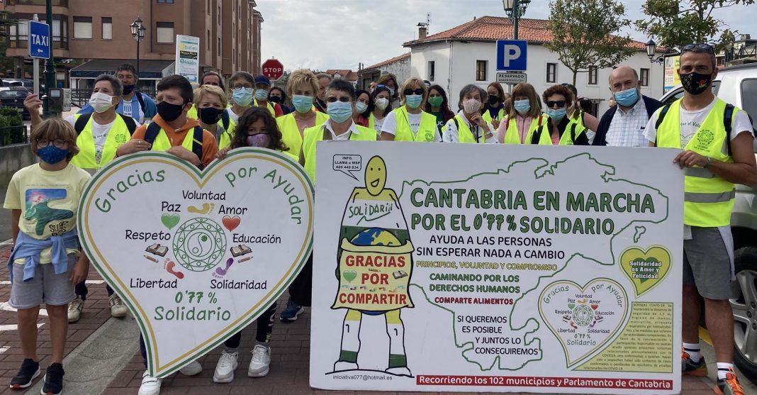Marcha Cantabria Solidaria por el 0,77%