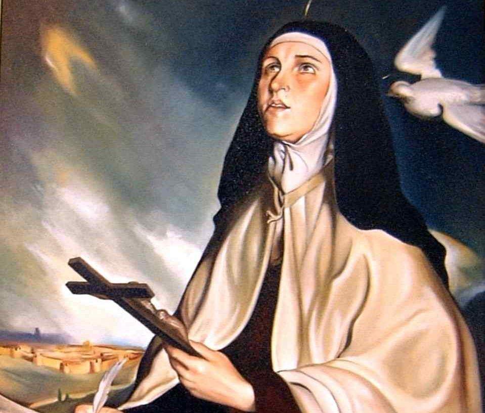 santa teresa de Jesús en el santoral de octubre